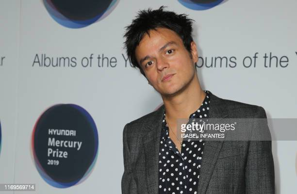 Member of the jury British musician and radio presenter Jamie Cullum poses on arrival for the Mercury Prize awards ceremony in central London on...