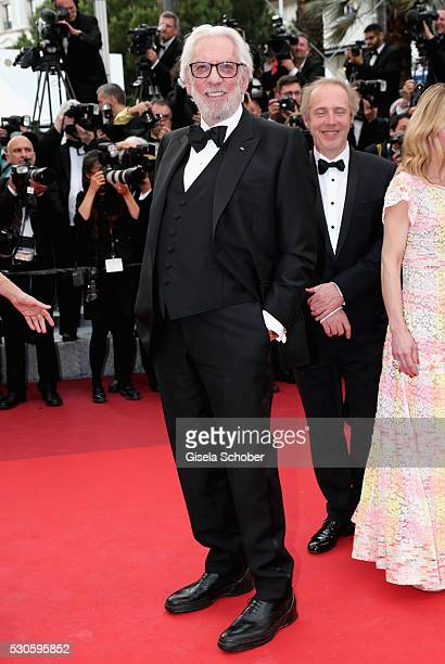 """Member of the jury Donald Sutherland attends the """"Cafe Society"""" premiere and the Opening Night Gala during the 69th annual Cannes Film Festival at..."""
