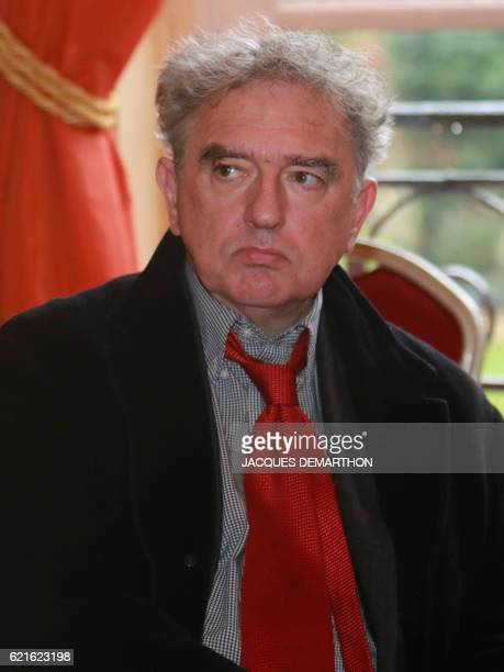 Member of the jury French book reviewer Michel Crepu is pictured after the announcement of the winner of this year's Prix Decembre literary prize on...