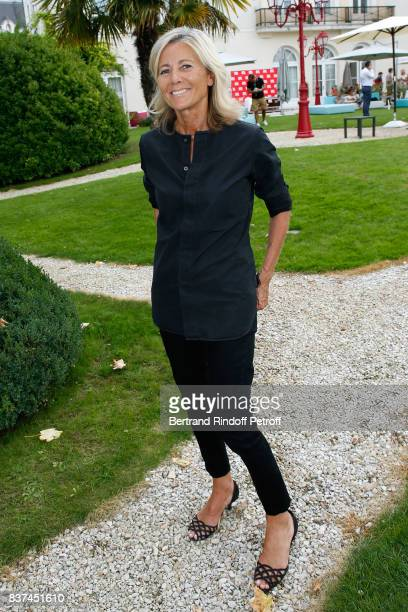 Member of the Jury journalist Claire Chazal attends the 10th Angouleme FrenchSpeaking Film Festival Jury Photo Call on August 22 2017 in Angouleme...