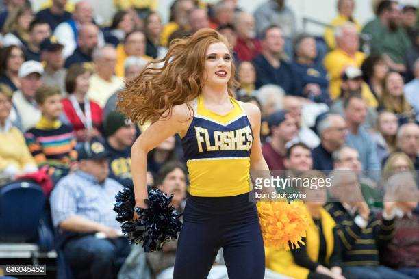 A member of the Kent State Golden Flashes dance team performs during the second half of the men's college basketball game between the Ohio Bobcats...