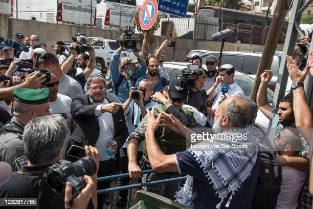 Member of the Knesset and leader of the far-right Otzma Yehudit party, Itamar Ben-Gvir visits the neighborhood of Sheikh Jarrah, during Israel's...