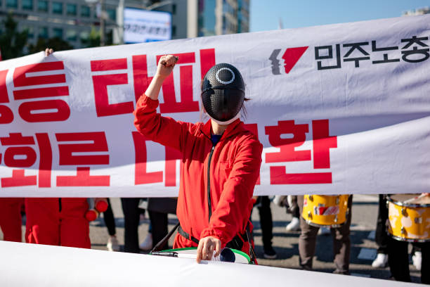 KOR: General Strike Of The Korean Confederation Of Trade Unions In Seoul