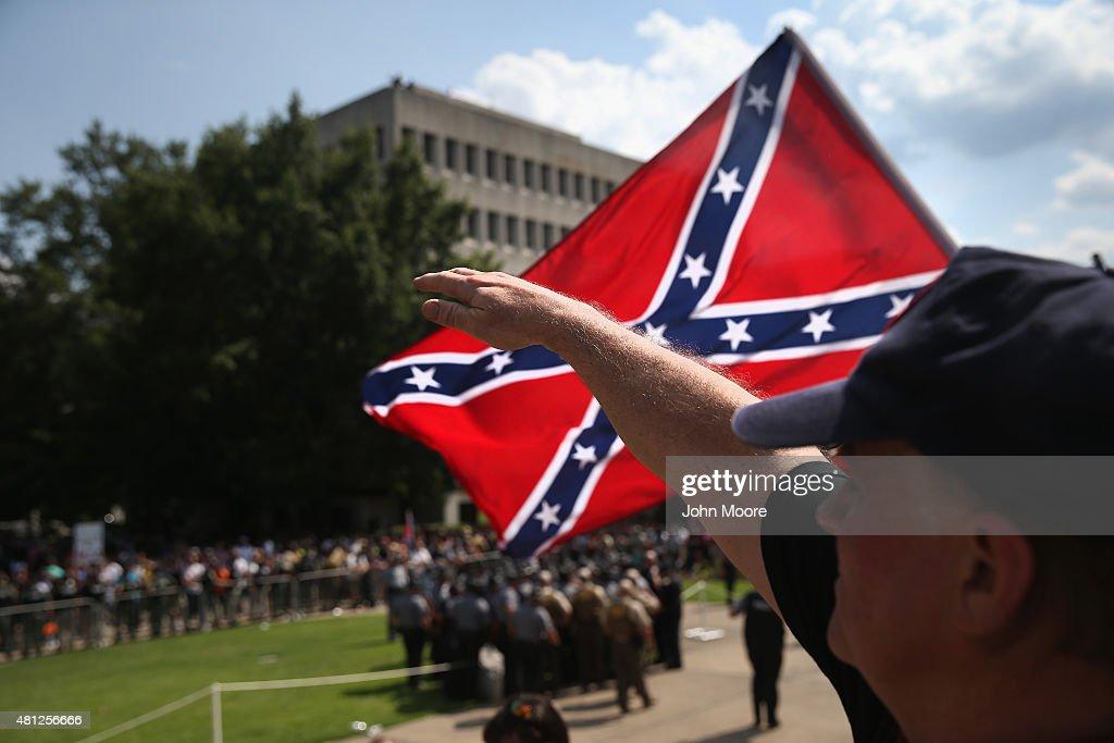 Ku Klux Klan Holds Rally Outside South Carolina Statehouse : News Photo