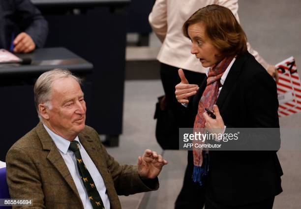 Member of the leadership of the Alternative for Germany farright party Beatrix von Storch speaks with the party's coleader of the parliamentary group...