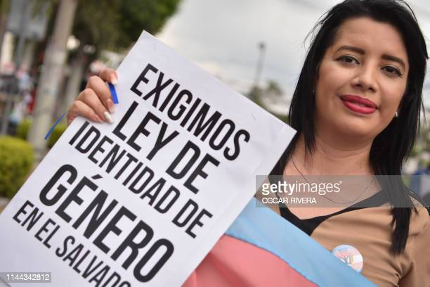 Member of the LGBTI community takes part in a march demanding a Gender Identity Law on the International Day against Homophobia, Transphobia and...