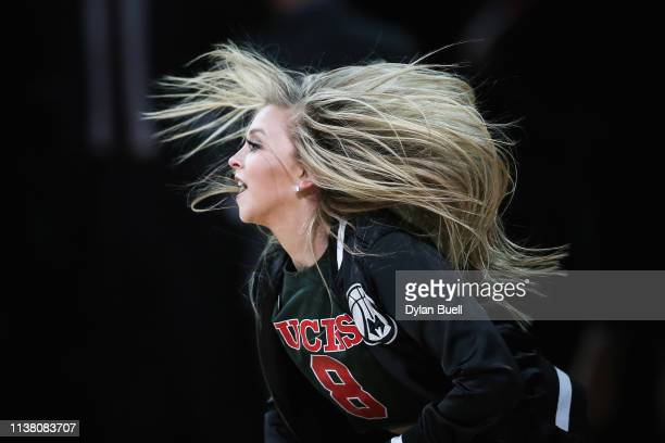 A member of the Milwaukee Bucks dance team performs during the game against the Cleveland Cavaliers at the Fiserv Forum on March 24 2019 in Milwaukee...