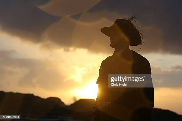 A member of the Mudgeeraba light horse troop takes part in the Currumbin RSL dawn service on April 25 2016 in Gold Coast Australia Australians...