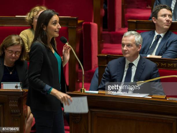 Member of the National Assembly for the Vaucluse Brune Poirson and Minister of the Economy Bruno Lemaire seen attending a session of questions to the...