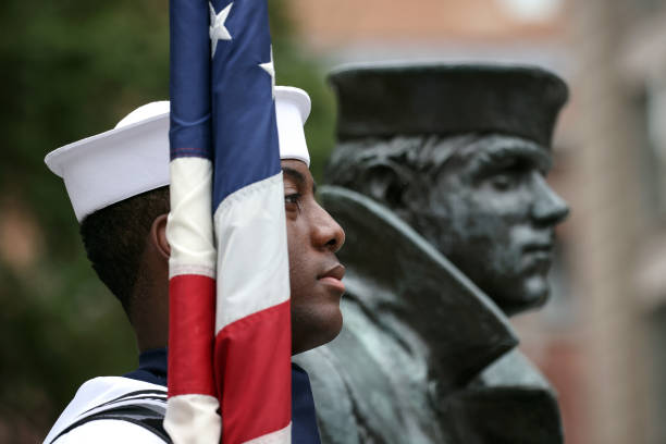 DC: US Navy Holds Wreathlaying Ceremony At Washington, DC Memorial