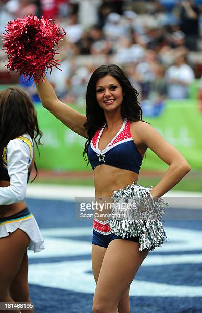 A member of the New England Patriots Cheerleaders performs during the 2013 Pro Bowl at Aloha Stadium on January 27 2013 in Honolulu Hawaii