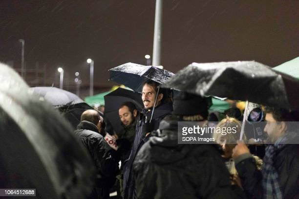 Member of the parliament Alberto Rodríguez seen during the strike The workers of the largest Amazon warehouse in Spain strike on Black Friday to...