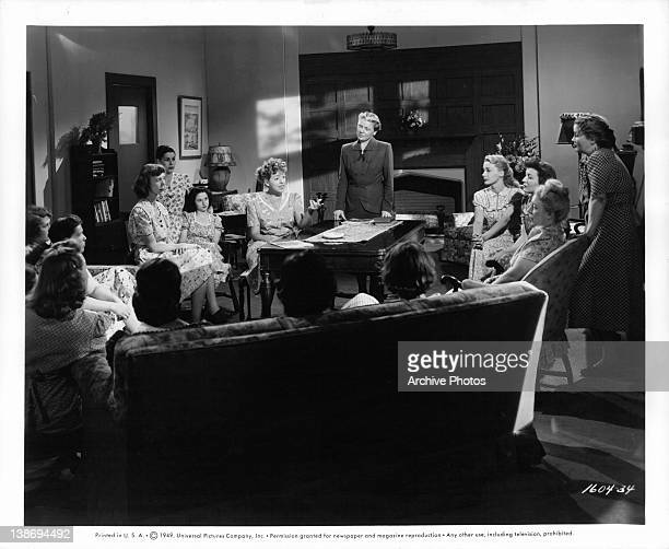 Member of the parole board asks Sarah Berner to explain prison regulations to a group of women at the California Institution for Women at Tehachapi....
