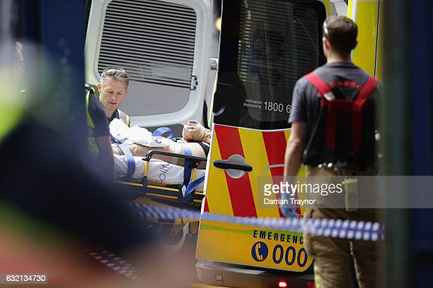 A member of the public is placed into an ambulance on January 20 2017 in Melbourne Australia Three people have been killed and 20 are injured after a...