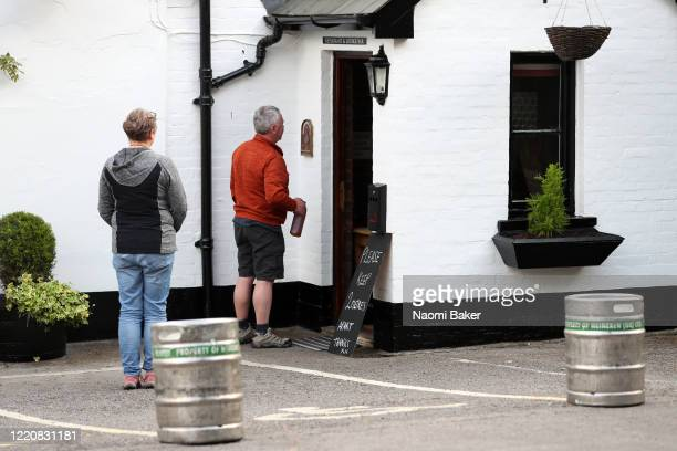 Member of the public purchases beer from a local pub in Burridge called 'The Elm Tree' as they offer take-away beer for members of the public on...