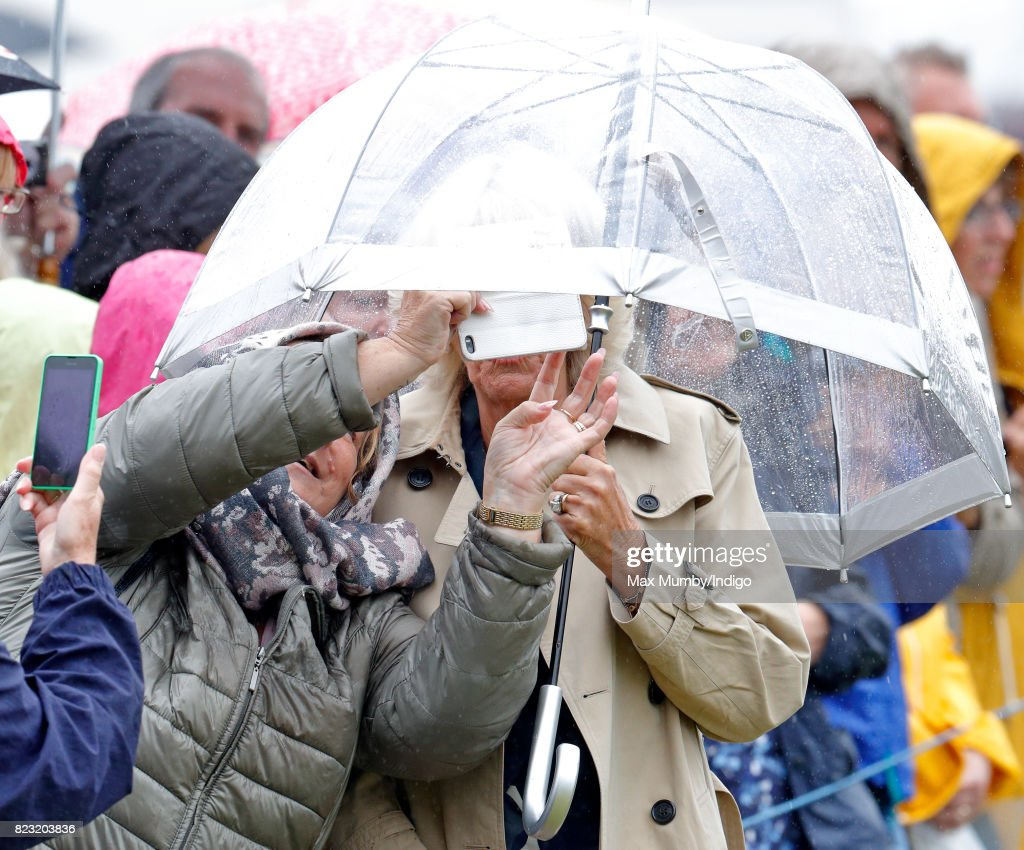 The Prince Of Wales And Duchess of Cornwall Visit Sandringham Flower Show : News Photo