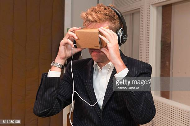 A member of the public views a Virtual Reality video which offers viewers a tour of the famous Abbey Road recording studios using the Google...
