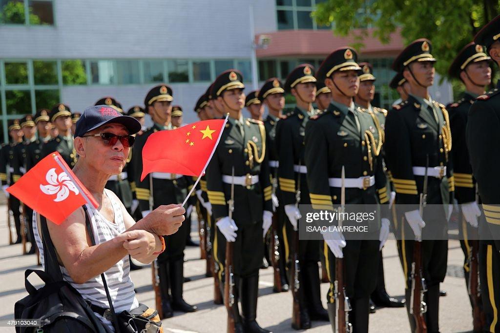 HONG KONG-CHINA-POLITICS-MILITARY : News Photo