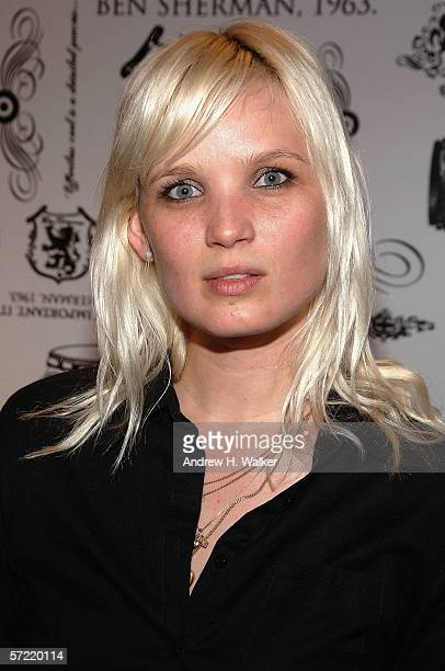 Member of the Raveonettes Sharin Foo attends the launch of Ben Sherman's first official US Flagship Store on March 30 2006 in New York City The...