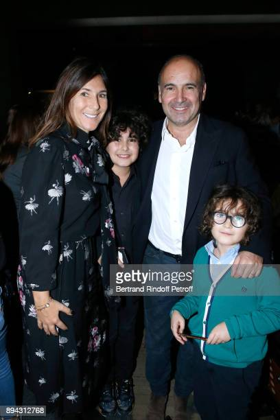 Member of the 'Reve d'enfants' committee Karine Journo her husband Philippe Journo and their sons Joachim and Eliott attend the 32th 'Reve d'Enfants'...