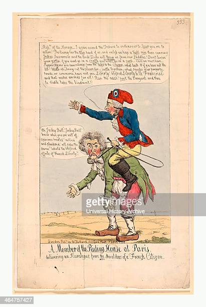 Member Of The Riding House At Paris Delivering An Harangue From The Shoulders Of A French Citizen Holland William Active 1782 1817 Engraving 1799 A...