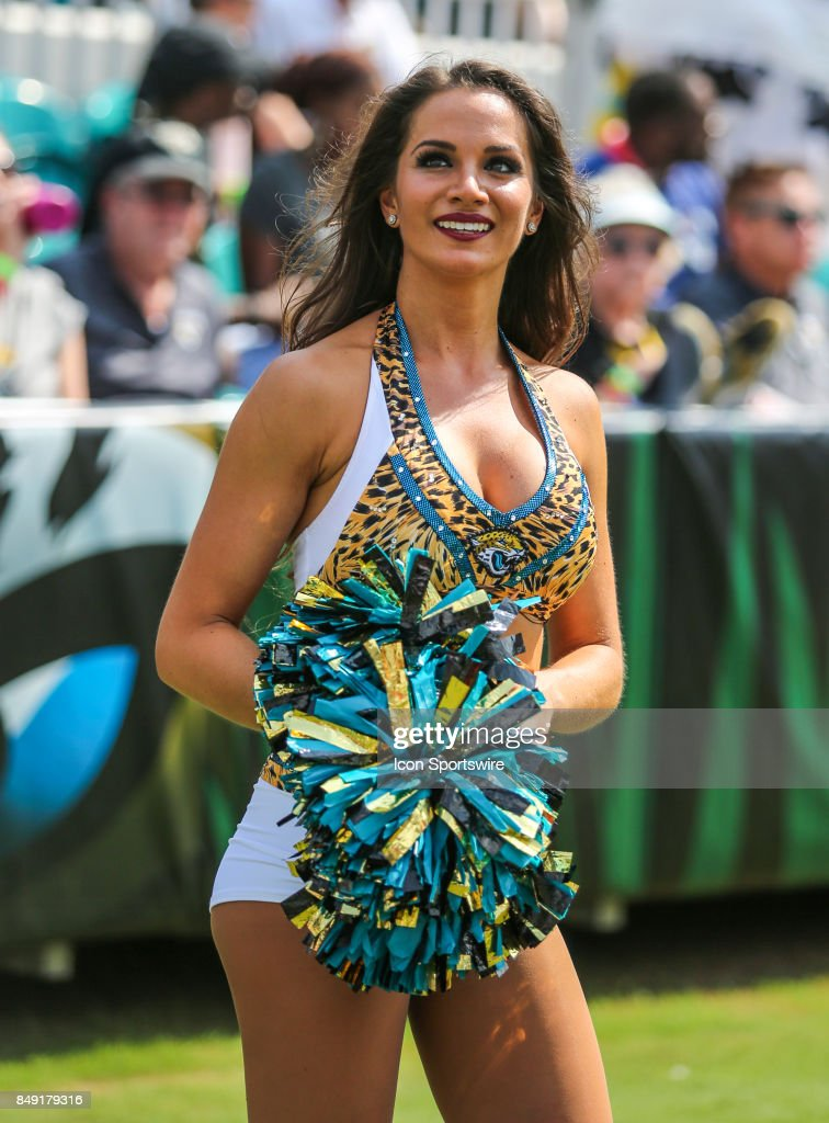 A member of The Roar, the Jacksonville Jaguars cheerleading squad,... News Photo - Getty Images