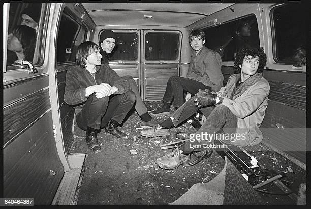 Member of the rock band Television from left to right Fred Smith Tom Verlaine Richard Lloyd Billy Ficca