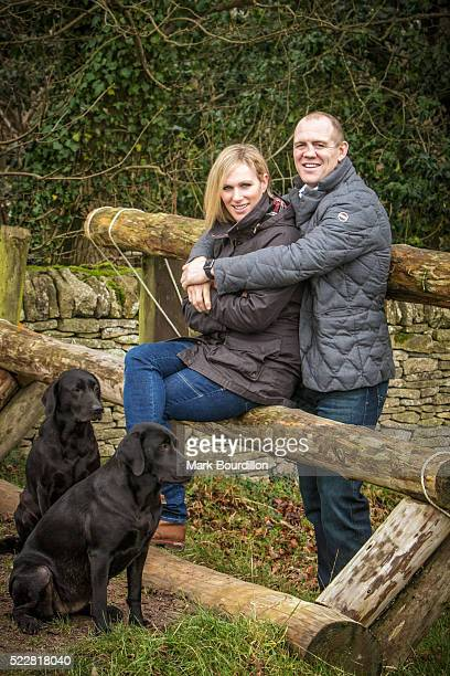 Member of the Royal family and equestrian rider Zara Phillips is photographed with her husband Mike Tindall for on December 17 2015 in...