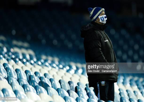 Member of the Sheffield Wednesday team watches on during the Sky Bet Championship match between Sheffield Wednesday and Derby County at Hillsborough...