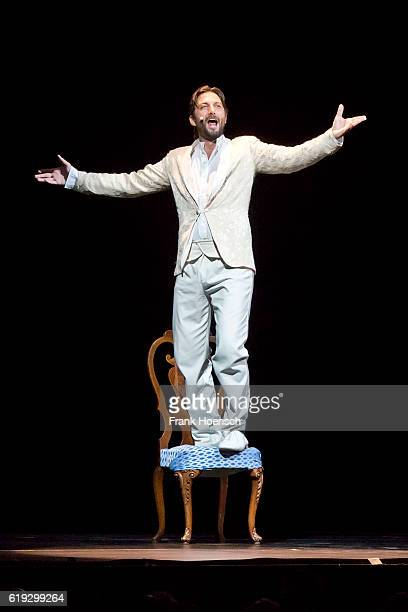 Member of the show Belcanto The Luciano Pavarotti Heritage performs live during a concert at the Admiralspalast on October 26 2016 in Berlin Germany