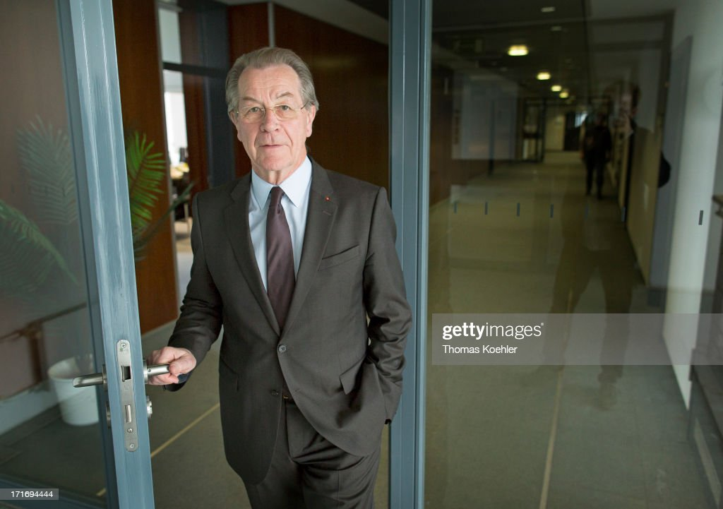 Member of the Social Democrat Party SPD Franz Muentefering photographed on May 14, 2013 in Berlin, Germany.