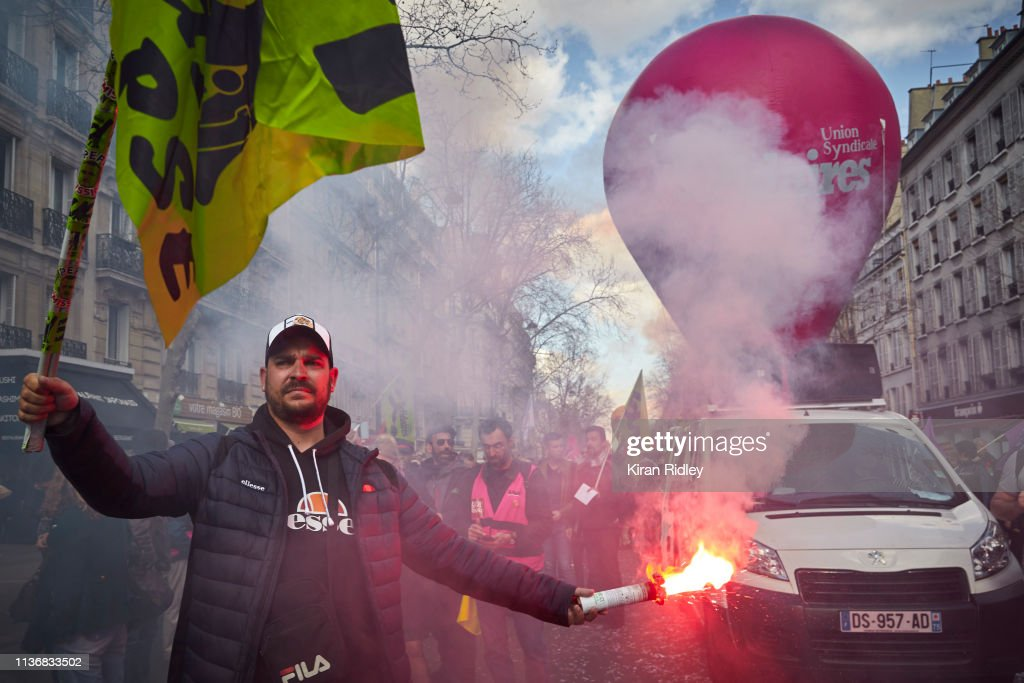 FRA: Demonstrators Protest During A General Strike Called By Unions Demanding Higher Wages And Tax Reforms