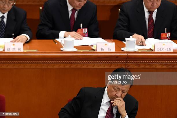 Member of the Standing Committee of the Political Bureau of the Communist Party of China Central Committee Liu Yunshan attends the opening ceremony...