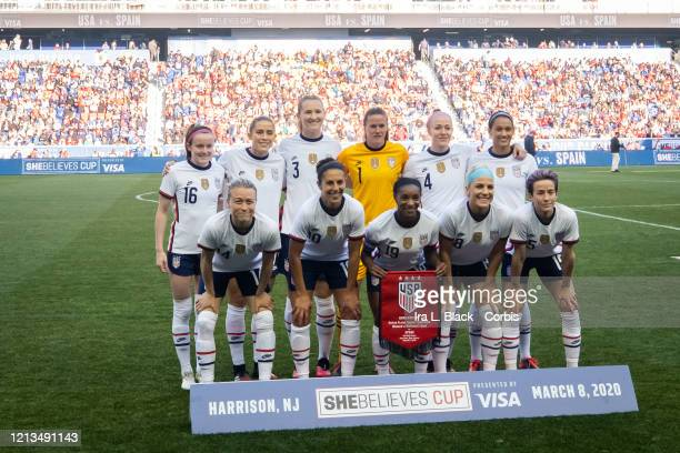Member of the starting line up of the United States at the star of the 2020 SheBelieves Cup match between United States and Spain sponsored by Visa....