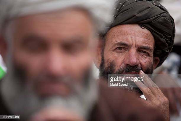 A member of the Taliban surrenders to the Afghan Government on August 26 2011 in Badakhshan Afghanistan More than 100 militants surrendered their...