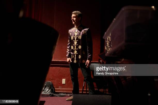 A member of The Tapitalists rehearse Tapwater at Fremont Centre Theatre on November 07 2019 in Pasadena California