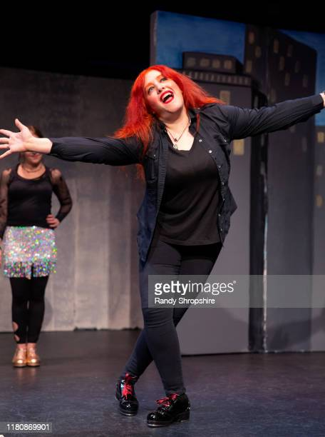 A member of The Tapitalists rehearse Tapwater on stage at Fremont Centre Theatre on November 07 2019 in Pasadena California