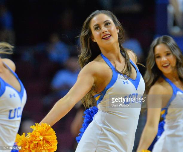 Member of the UCLA Bruins dance team performs during the team's game against the North Carolina Tar Heels during the 2018 Continental Tire Las Vegas...