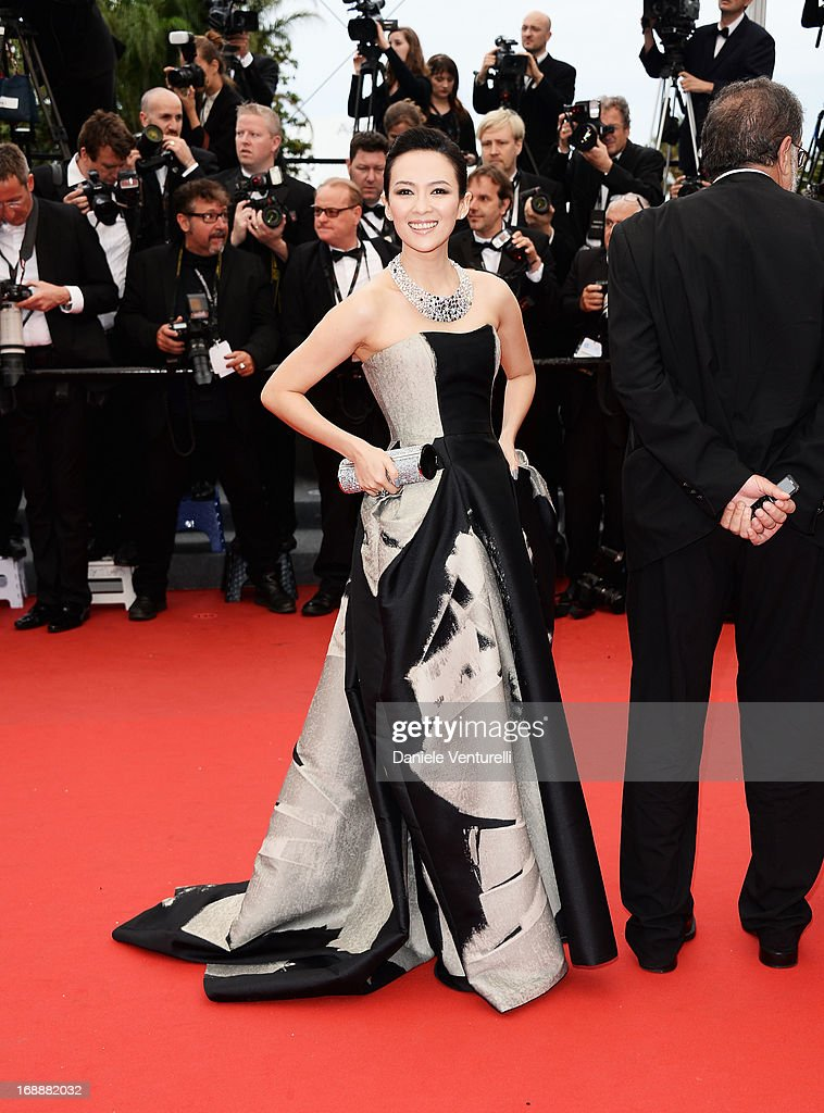 Member of the 'Un Certain Regard' Jury Zhang Ziyi attends the Premiere of 'The Bling Ring' at The 66th Annual Cannes Film Festival at Palais des Festivals on May 16, 2013 in Cannes, France.