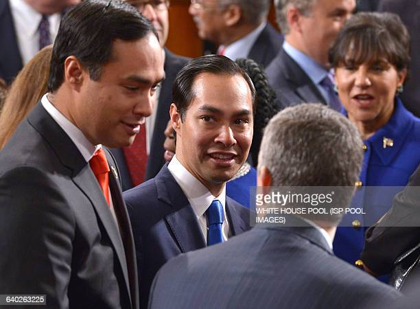 Member of the US House of Representatives from Texas's 20th district Joaquin Castro and twin brother US Secretary of Housing and Urban Development...
