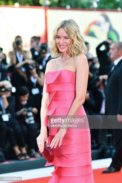 Member of the Venezia 75 competition jury English actress Naomi Watts arrives for the opening ceremony and the premiere of the film First Man...