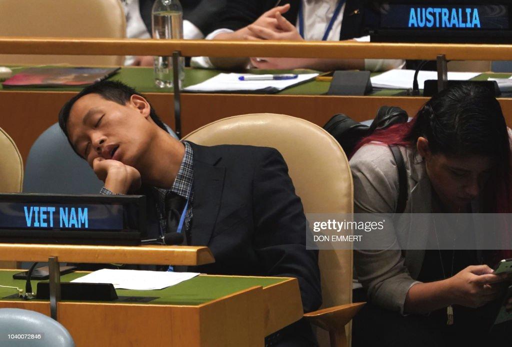 UN-ASSEMBLY-DIPLOMACY : Nachrichtenfoto