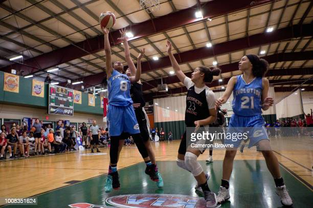 A member of Washington Evolution shoots the ball during the game against Tree of Hope Pacific Red during the Jr NBA World Championship Northwest...