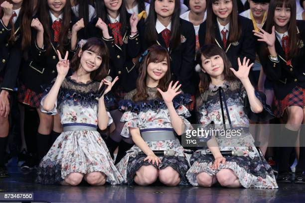 HKT48 member Rino Sashihara comes to Taiwan to hold AKB48 Group Fan Meeting in TAIWAN with AKB48 members Yuki Kashiwagi and Minami Minegishi on 11th...