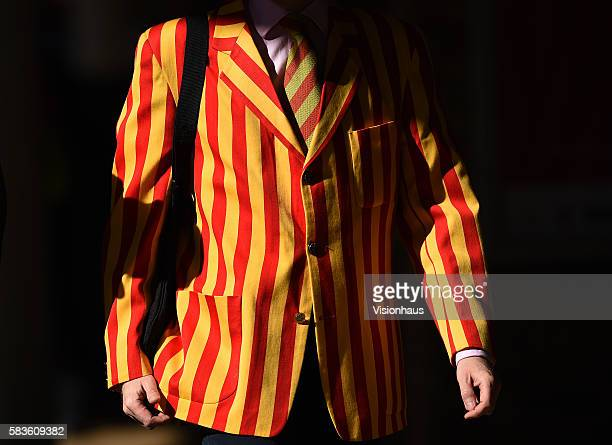 Member wearing MCC blazer and tie walking to his seat after the Grace gates have been opened during the third day of the 2nd Investec Ashes Test...