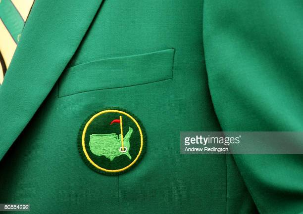A member wears his green jacket during the first day of practice prior to the start of the 2008 Masters Tournament at Augusta National Golf Club on...