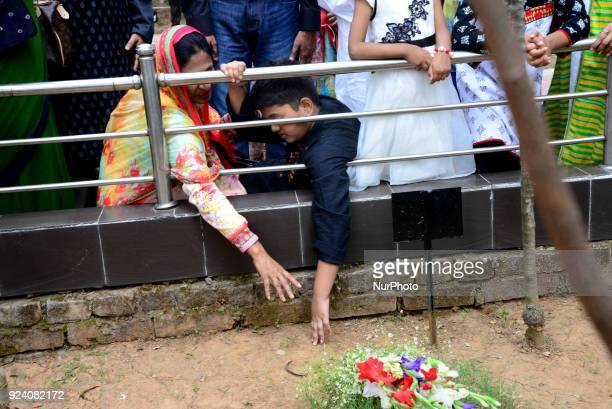 Members and families of the victims' say their prayers and lay flowers on the graves of their loved ones as the nation is observing the anniversary...