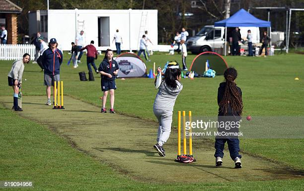 Members and volunteers take part in NatWest CricketForce 2016 Bedford CC on April 3 2016 in Bedford England