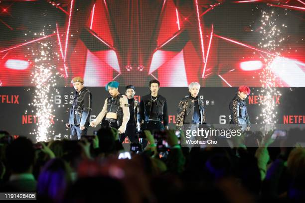 EXO members attend the world premiere of Netflix's '6 Underground' at Dongdaemun Design Plaza on December 02 2019 in Seoul South Korea