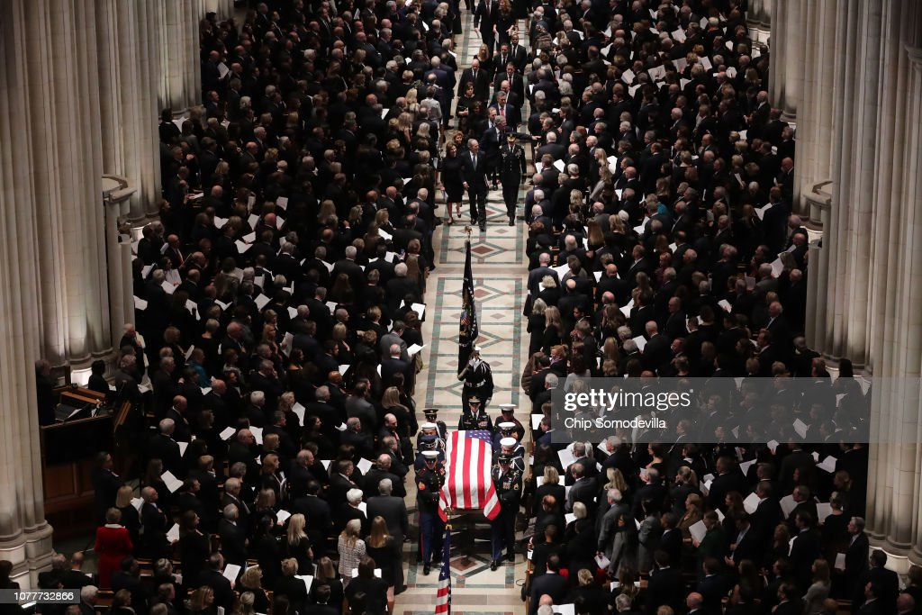 State Funeral Held For George H.W. Bush At The Washington National Cathedral : News Photo